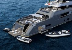Project for the new Expedition Teseo 50 designed by Zuccon for CRN