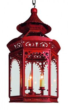 The elegant Chinoiserie lantern represents the incredible craftsmanship involved in the area of metalworking.