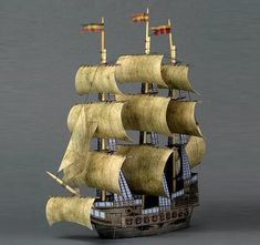 Free download, The Ghost Ship Paper Model - by Ravens Blight - Navio Fantasma