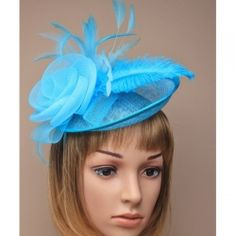Turquoise large net and sinamay hatinator on a narrow aliceband Style Heather colour aliceband wedding Kentucky derby hat church bridal Royal Ascot Races, Blue Fascinator, Gold Hats, Occasion Hats, Ascot Hats, Alice Band, Wedding Hats, Wedding Fascinators, Cocktail Hat
