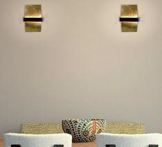 Apliques de pared Altin de Bpm lighting en pan de oro. #bpmlighting #apliquesoro #apliquesmodernos