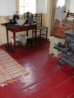 painted floors- love it, but only if hardwood floors have are too damaged to salvage as natural.