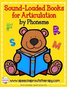 FREE! Do you use children's books in speech therapy? There are so many ways to target articulation, language and literacy at once when using wonderful storybooks. This is a list of my favorite sound loaded books that I personally use in speech therapy to target articulation of specific phonemes -repinned by @PediaStaff – Please Visit  ht.ly/63sNt for all our pediatric therapy pins.