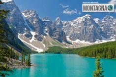 Majestic mountain lake in Canada #mountain #lake #canada #landscape  ----------------------  Il lago fra le montagne del Canada #montagna #lago #canada #paesaggio