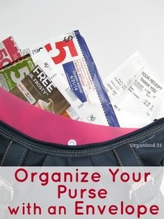 How to Organize Your Purse & Eliminate Receipt Clutter featured on Ask Anna