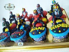 Kamen RIder cupcake for Bani