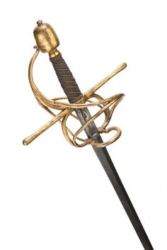 Swept-hilt Rapier Dated: circa 1600 Culture: Italian Measurements: overall length 116 cm / inches Swords And Daggers, Knives And Swords, Katana, Small Sword, Powder Horn, Medieval Weapons, Arm Armor, Cold Steel, Custom Knives