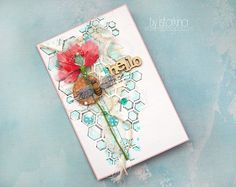 Card with honeycomb and bee