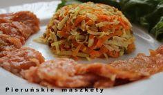 Pieruńskie maszkety - blog kulinarny: Wędzony łosoś w towarzystwie warzyw - lekkie danie...