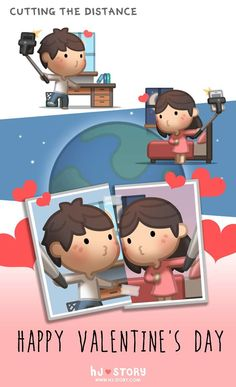 HJ Story - Happy Valentine's day! This episode dedicated to. Hj Story, Cute Couple Drawings, Cute Couple Art, My Funny Valentine, Happy Valentines Day, Love Is, True Love, Love Cartoon Couple, Couples Comics