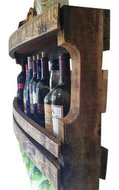 Hand Made Napa Valley Reclaimed Wine Barrel Wine Rack