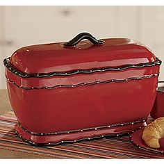 You'll love our selection of small kitchen décor, kitchen storage solutions and dining accessories. Vintage Bread Boxes, Vintage Box, Red Kitchen, Kitchen Interior, Kitchen Ideas, Kitchen Canisters, Kitchenware, Red Bread, How To Store Bread