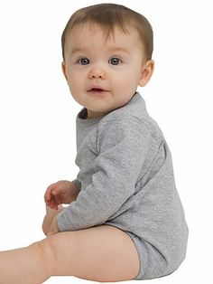 Infant Baby Rib Long Sleeve One-Piece | American Apparel