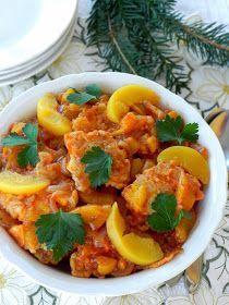 ryba w brzoskwiniach,ryba na ciepło,ryba w sosie brzoskwiniowym,potrawy wigilijne,przepisy na Boże Narodzenie,przepisy na rybę,ryba na słodko, Gnocchi, Food To Make, Curry, Food And Drink, Ethnic Recipes, Impreza, Christmas Recipes, Polish Food Recipes, Curries