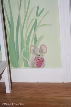 Fairy Tale Mural - Mouse Close-up