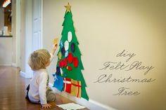 12 árvores de natal para fazer com os filhos | Decoração - Donas de casa anônimas