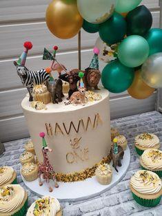 Jungle Birthday Cakes, Animal Birthday Cakes, Jungle Cake, Birthday Cake Girls, First Birthday Cakes, Birthday Cake Toppers, Safari Birthday Party, Jungle Safari, Jungle Theme