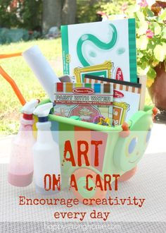 Kids' Art on a Cart: Encourage Creativity Every Day!
