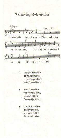 Trenčín dolinečka Sheet Music, Love, Amor, Music Sheets