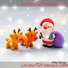 Gumpaste Santa Claus with Reindeers making tutorial - Cake Decorating Tutorials (How To's) pictures only.