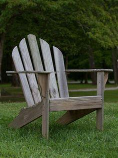 Adirondack stoel: Designstoel voor in de tuin