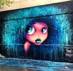 Street art by Vinnie in Paris, France Street Wall Art, Street Art News, Urban Street Art, Street Art Graffiti, Street Artists, Urban Art, Graffiti Artwork, Art Mural, Graffiti Lettering