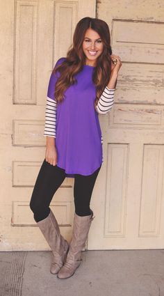 Dottie Couture Boutique - Plum Tunic, $36.00 (http://www.dottiecouture.com/plum-tunic/)... Fashion: pants