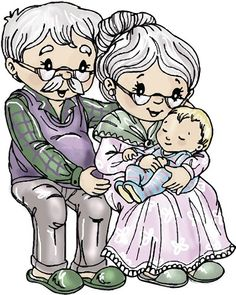 Stempel - Yvonne Creations - Opa en Oma 1