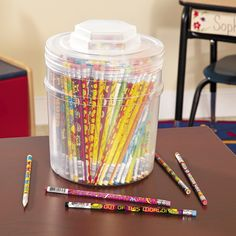 """Pencils are a great reward and I love that this deal comes with over 250 pencils and a container to store them."" - Amy, Education Product Development Specialist for Oriental Trading Company Classroom Supplies, Classroom Organization, Classroom Ideas, 100 Days Of School, School Stuff, Back To School, Student Teaching, Teaching Ideas, Operation Christmas Child"