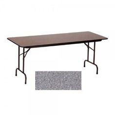 Melamine Standard Fixed Height Folding Table (30 in. x 60 in./Gray Granite)