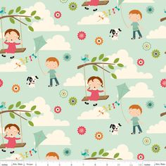 Manufacturer: Riley Blake Designs  Designer: October Afternoon  Collection: Fly a Kite  Print Name: Fly a Kite in Teal
