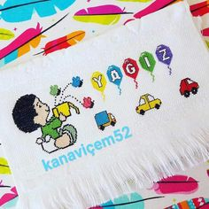 Cross Stitch, Snoopy, Armin, Kids, Character, Cross Stitch Embroidery, Clowns, Towels, Dots