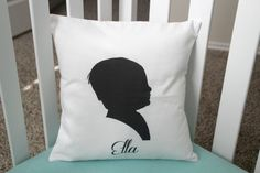 Custom Personalized Silhouette 14 x 14 Pillow Cover By Wendy   If youre looking for the cutest pillow around, look no further! You found it!