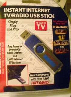 'Instant Internet TV/Radio USB Stick' is going up for auction at  5pm Wed, May 1 with a starting bid of $5.