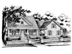 Country House Plan with 1953 Square Feet and 3 Bedrooms from Dream Home Source | House Plan Code DHSW55477