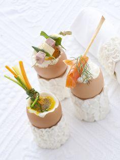 Uova alla coque con il salmone