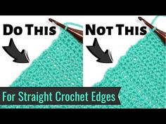 Use the Chainless Starting Stitches to Give Your Crochet a Perfectly Straight Edge!, Yay For Yarn. Are the edges of your crochet wavy? Are there gaps from turning chains along the sides? Fix that problem NOW with a Chainless Starting Stitch! Crochet Stitches For Blankets, Crochet Stitches For Beginners, Crochet Stitches Patterns, Crochet Videos, Crochet Basics, Knitting For Beginners, Crochet Edgings, Crochet Crowd, Easy Crochet