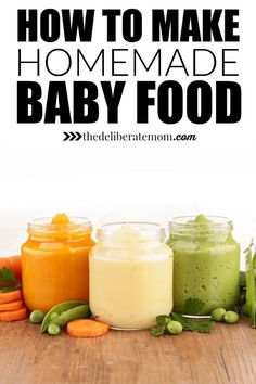 How to make healthy, delicious, and nutritious homemade baby food. Tips, tricks, and suggestions.