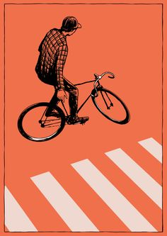 Bike illustrations by tumblr artist Adams Carvalho