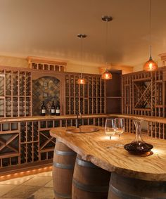 We recommend this oak wood wine cellar racking model for you. Contact us now to get more information. Wine Cellar Cooling Unit, Wine Cellar Racks, Wine Rack Design, Wine Collection, Wine Cabinets, Wine Storage, Red Oak, Make Design, Wood Colors