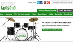 My Drum Lessons Website. New website helps #drum #teachers to get #students.
