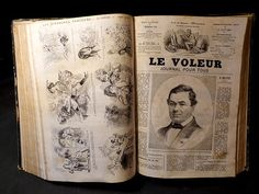 Magnificent and rare Antique French book by ParisBookandPaper