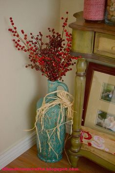 Love my turquoise vase. Comes in handy for all the holidays