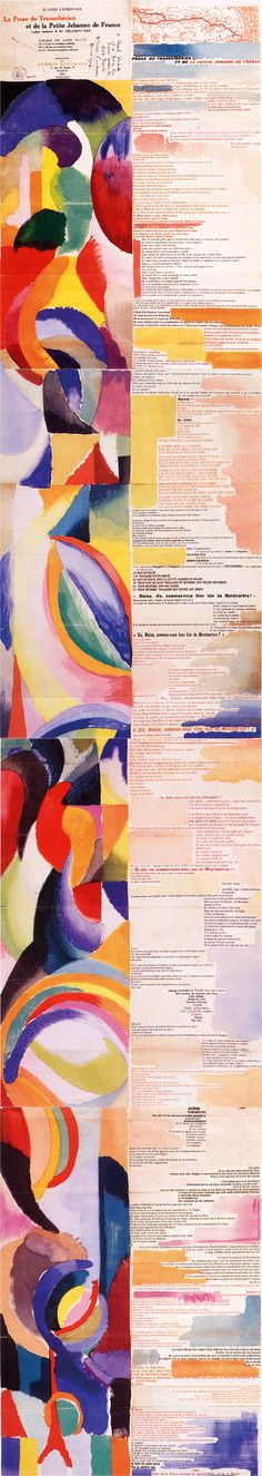 Prose of the Trans-Siberian and of Little Jehanne of France, 1913 (Orphism) - Sonia Delaunay