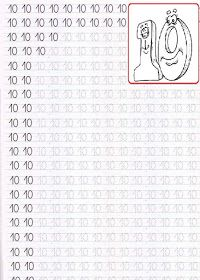 EDUCATIA CONTEAZA : 10_(ZECE) Free Printable Numbers, Printable Preschool Worksheets, Alphabet Worksheets, Preschool Activities, Free Printables, English Worksheets For Kids, Handwriting Practice, Math, Book