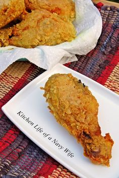 The Kitchen Life of a Navy Wife: Coconut Curry Fried Chicken