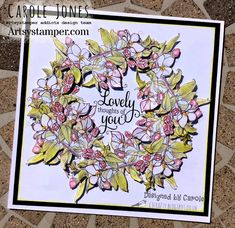 Craftilicious Creations: * Artsystamper: Lovely Thoughts of You Mums The Word, Thoughts Of You, Spring Blossom, Fun Challenges, You Are Invited, Hello Beautiful, Digi Stamps, Your Design, Vintage World Maps