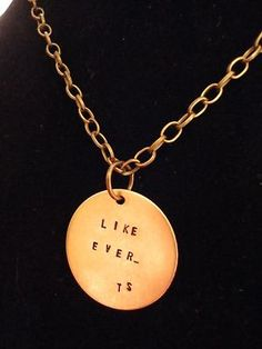 """""""Like Ever"""" Taylor Swift necklace. Hand stamped."""