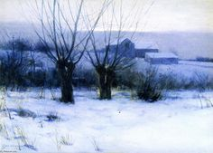 Winter Orchard, aquarelle de Charles Warren Eaton (1857-1937, United States)