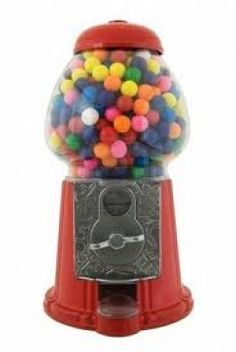 Red Dubble Bubble Gumball Coin Bank Distributeur de distributeurs de bonbons